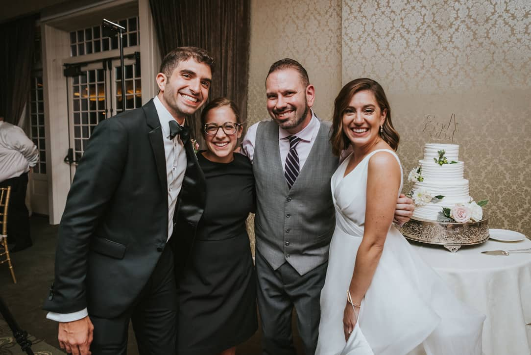 Elizabeth & Andrew (along with Bethany & Lou). Photo by Wandermore Photography.